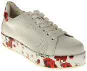Womens Ladies Keddo Faux Leather Platfrom Trainers Thumbnail 2