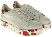 Womens Ladies Keddo Faux Leather Platfrom Trainers Thumbnail 5