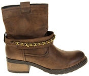 Womens Ladies Betsy Faux Leather Ankle Boots Thumbnail 3