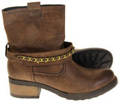 Womens Ladies Betsy Faux Leather Ankle Boots Thumbnail 4