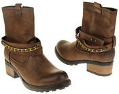 Womens Ladies Betsy Faux Leather Ankle Boots Thumbnail 6