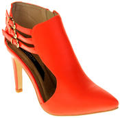 Womens Ladies Elisabeth Faux Leather Stilletto High Heels Thumbnail 2