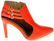 Womens Ladies Elisabeth Faux Leather Stilletto High Heels Thumbnail 3