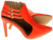 Womens Ladies Elisabeth Faux Leather Stilletto High Heels Thumbnail 4