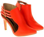 Womens Ladies Elisabeth Faux Leather Stilletto High Heels Thumbnail 5