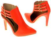 Womens Ladies Elisabeth Faux Leather Stilletto High Heels Thumbnail 6