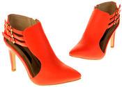 Womens Ladies Elisabeth Faux Leather Stilletto High Heels Thumbnail 7