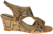 Womens Ladies Elisabeth Faux Leather Leopard Print Wedged Sandals Thumbnail 3