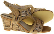 Womens Ladies Elisabeth Faux Leather Leopard Print Wedged Sandals Thumbnail 4