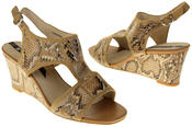Womens Ladies Elisabeth Faux Leather Leopard Print Wedged Sandals Thumbnail 6