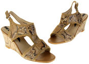 Womens Ladies Elisabeth Faux Leather Leopard Print Wedged Sandals Thumbnail 7