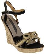 Womens Ladies Elisabeth Bow Design Wedged Fashion Sandals Thumbnail 2