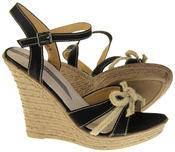 Womens Ladies Elisabeth Bow Design Wedged Fashion Sandals Thumbnail 4