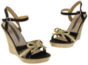 Womens Ladies Elisabeth Bow Design Wedged Fashion Sandals Thumbnail 7