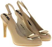 Womens Ladies Elisabeth Faux Leather High Heels Thumbnail 5
