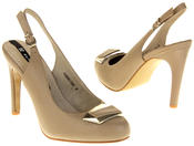 Womens Ladies Elisabeth Faux Leather High Heels Thumbnail 6