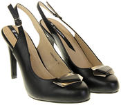 Womens Ladies Elisabeth Faux Leather High Heels Thumbnail 10