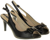 Womens Ladies Elisabeth Faux Leather Stilletto High Heels Thumbnail 10