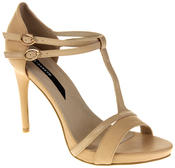 Womens Ladies Elisabeth Faux Leather Strappy High Heels Thumbnail 2