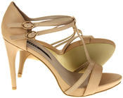 Womens Ladies Elisabeth Faux Leather Strappy High Heels Thumbnail 4