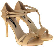 Womens Ladies Elisabeth Faux Leather Strappy High Heels Thumbnail 5