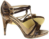 Womens Ladies Elisabeth Faux Leather Strappy High Heels Thumbnail 9