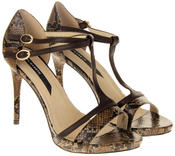 Womens Ladies Elisabeth Faux Leather Strappy High Heels Thumbnail 10