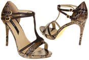 Womens Ladies Elisabeth Faux Leather Strappy High Heels Thumbnail 11