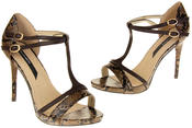 Womens Ladies Elisabeth Faux Leather Strappy High Heels Thumbnail 12