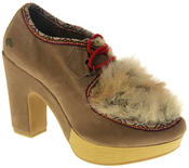 Womens Ladies Rocket Dog Faux Suede Leather Faux Fur High Heels Thumbnail 2