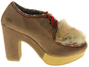 Womens Ladies Rocket Dog Faux Suede Leather Faux Fur High Heels Thumbnail 3
