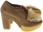Womens Ladies Rocket Dog Faux Suede Leather Faux Fur High Heels Thumbnail 4