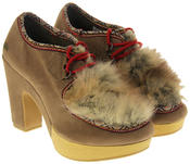 Womens Ladies Rocket Dog Faux Suede Leather Faux Fur High Heels Thumbnail 5