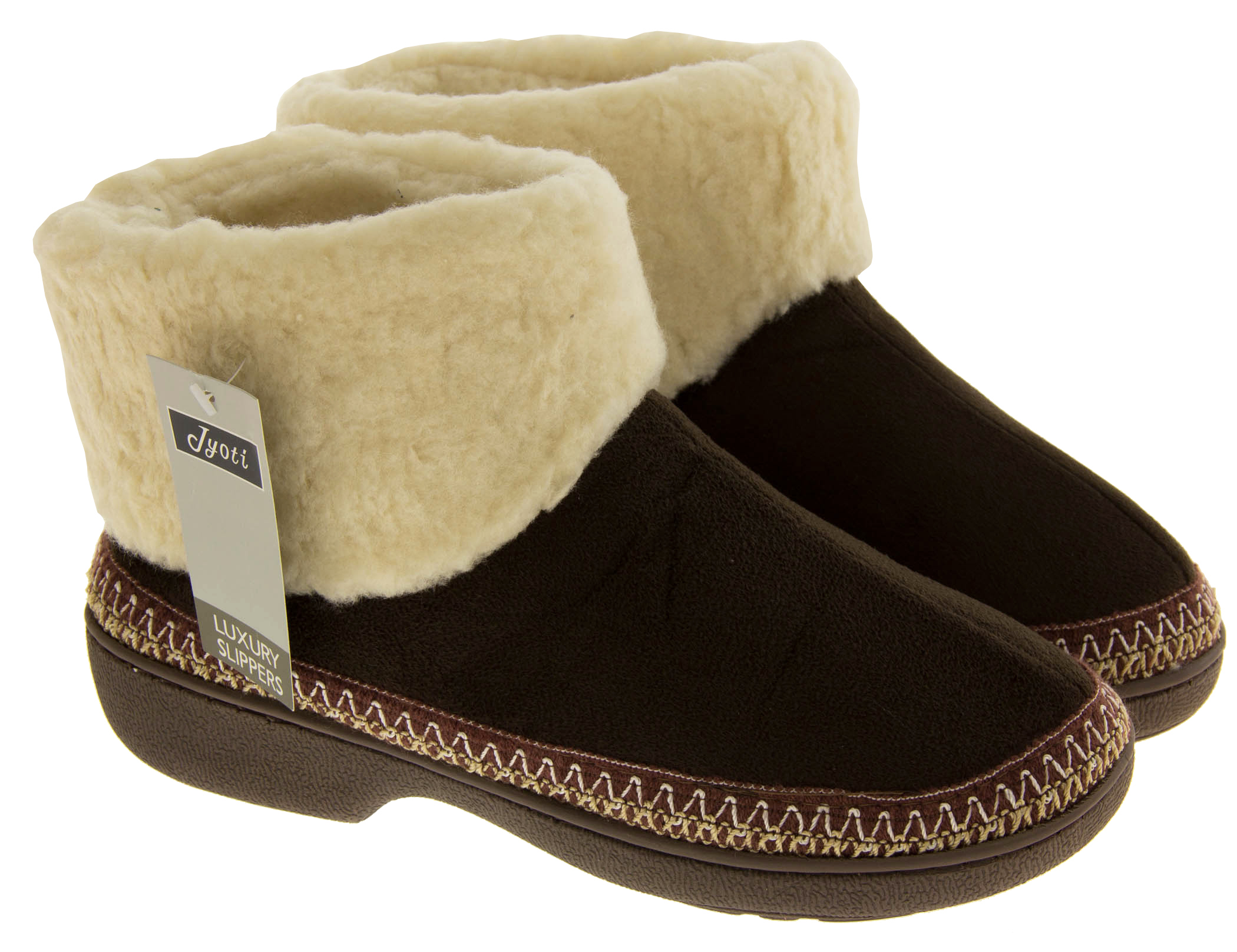 Womens Slipper Boots Winter Outdoor Sole Comfy Warm Ladies