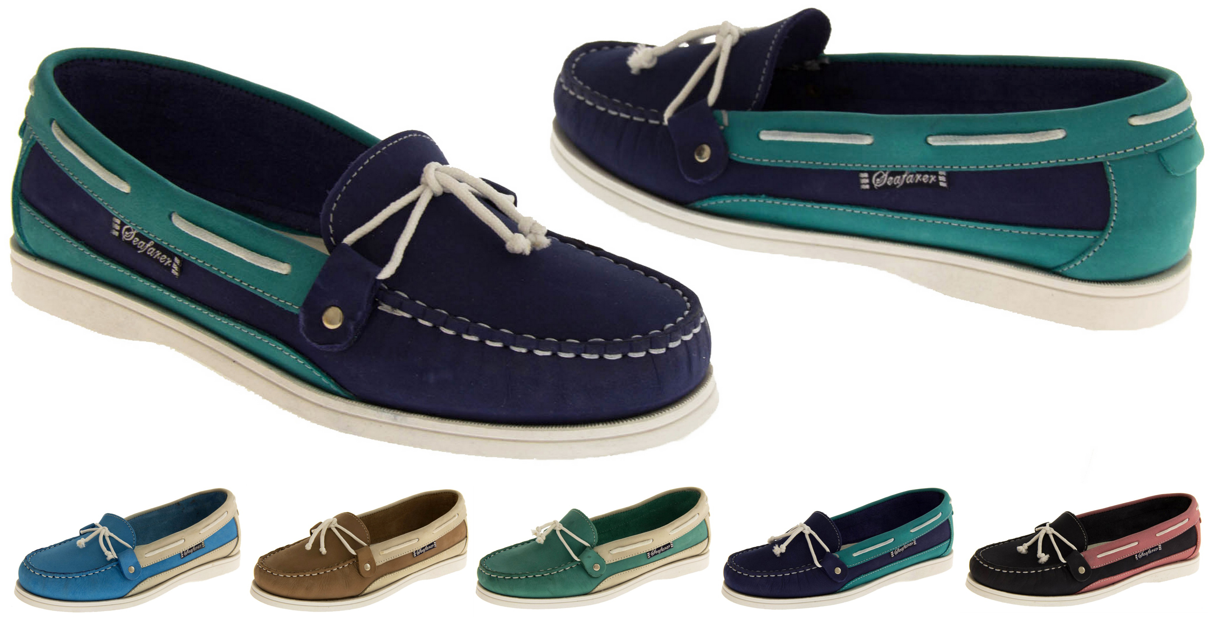 4d03f619b6 Womens Leather SEAFARER Smart Boat Formal Moccasins Sailing Deck Shoes  Loafers