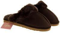 Womens DUNLOP Faux Fur Lined Slipper Mules Thumbnail 9