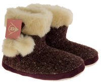 Ladies DUNLOP Faux Fur Lined Slipper Boots Thumbnail 3