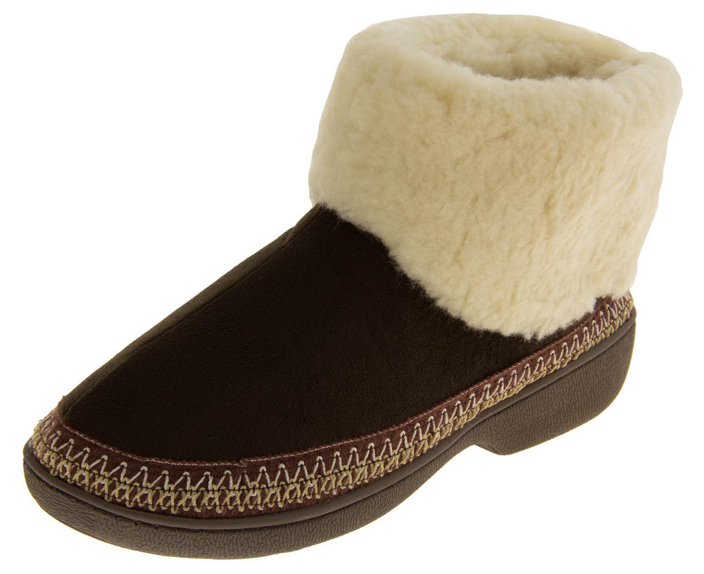 Ladies JYOTI Faux Suede Outdoor Sole Slipper Boots