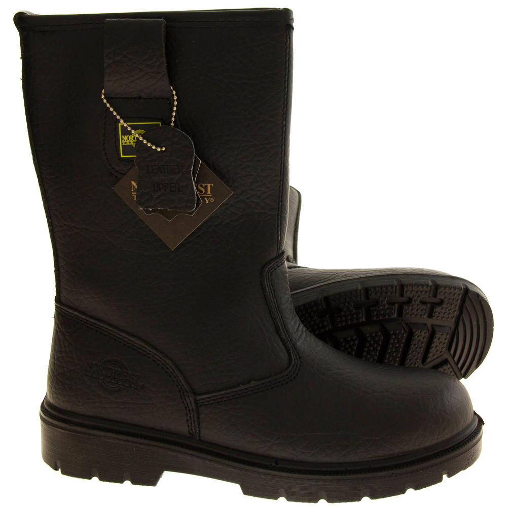 Mens Northwest Territory Labrador Leather Rigger Boots