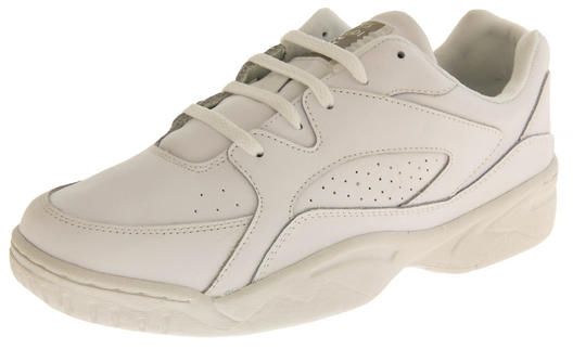 Mens Leather Casual Lace Up Trainers