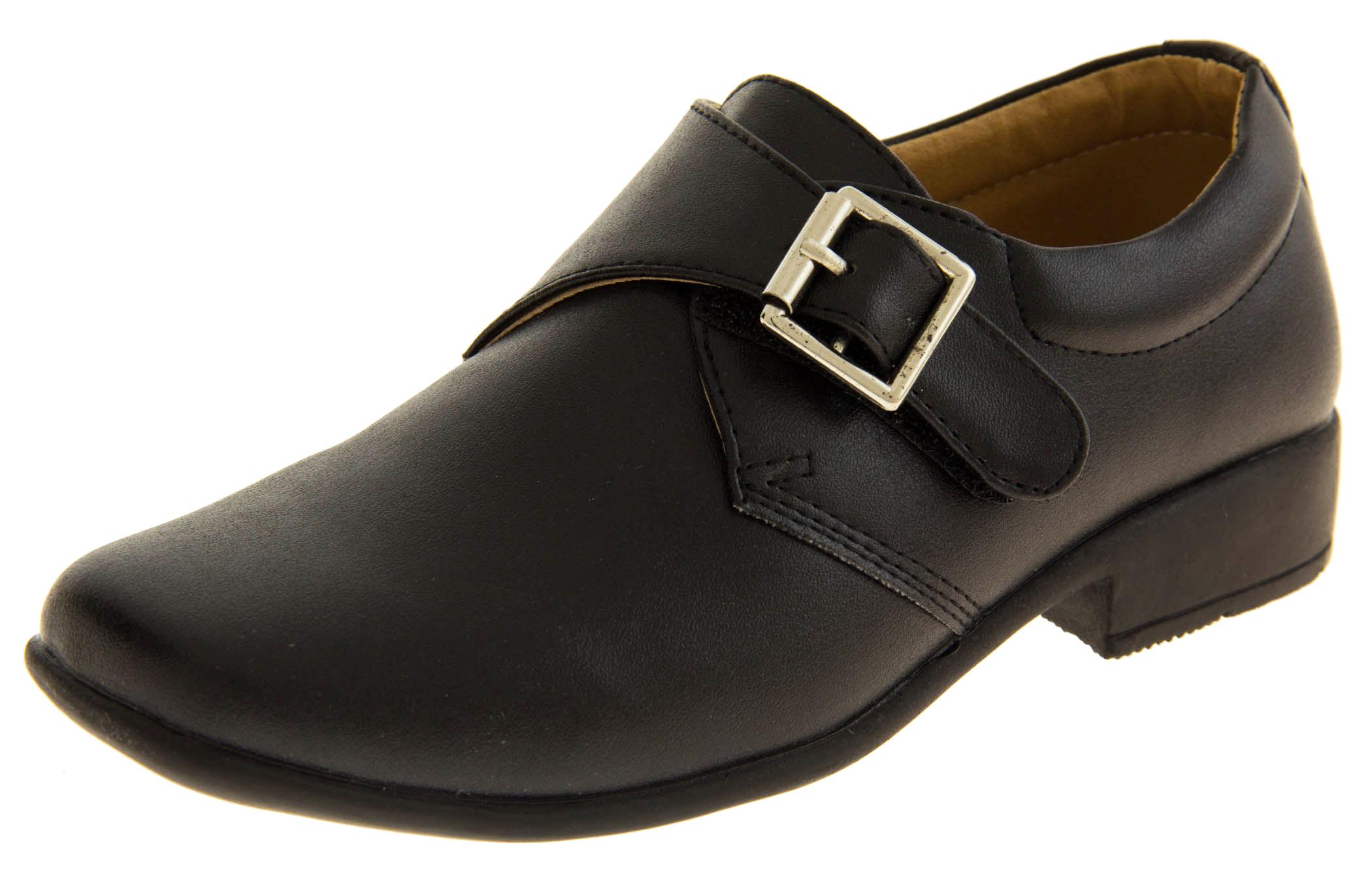Boys Faux Leather Formal School Shoes  2fb26c746b