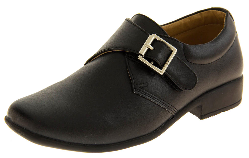Boys Faux Leather Formal School Shoes