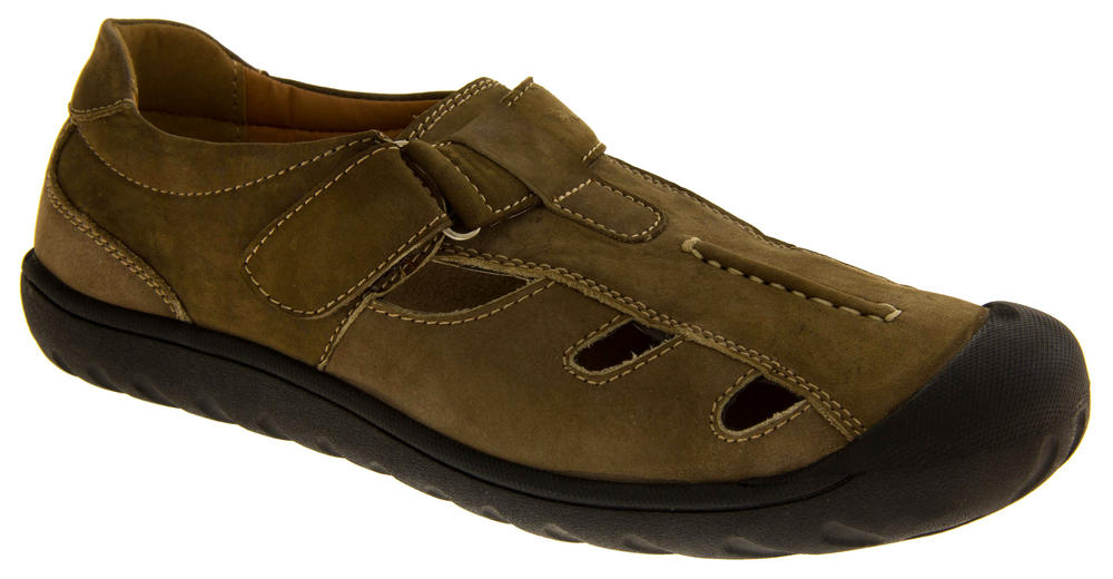 Mens Shoreside Leather Closed Toe Sports Sandals Womens