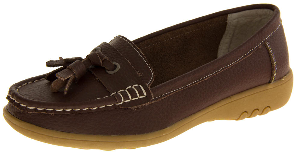 Womens COOLERS PREMIER Leather Moccasin Loafers