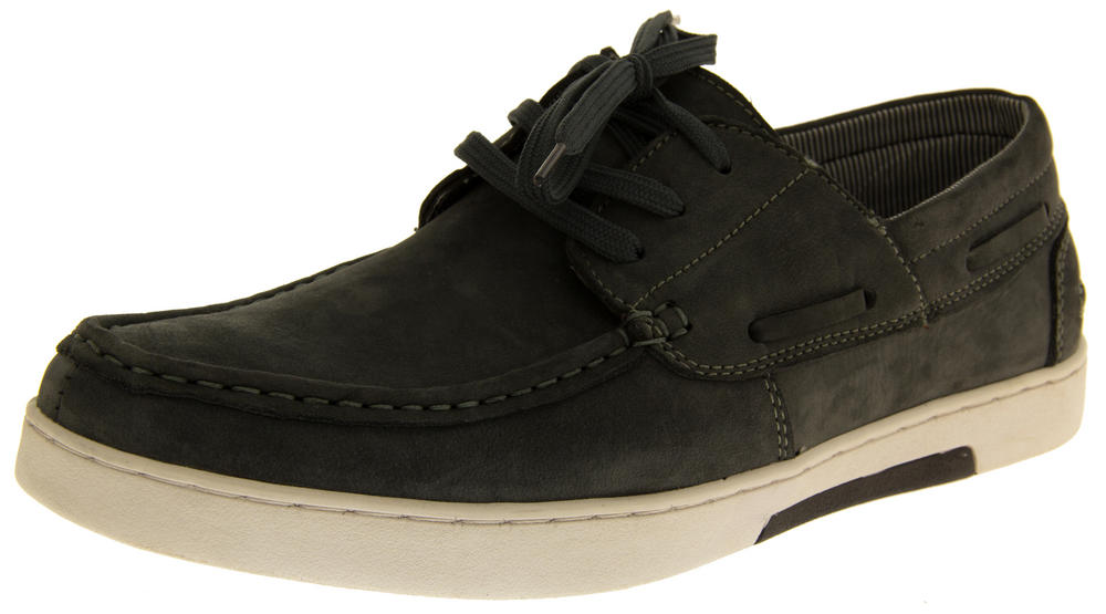 Mens REAL LEATHER HELMSMAN BOAT Casual Moccasins trainers
