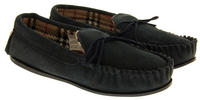 Ladies LODGEMOK SUEDE Tartan Lined Slippers Thumbnail 7