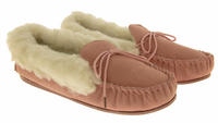 Ladies LODGEMOK SUEDE REAL WOOL Lined Slippers Thumbnail 9