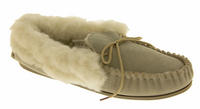 Ladies LODGEMOK SUEDE REAL WOOL Lined Slippers Thumbnail 2