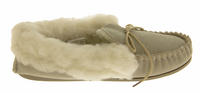 Ladies LODGEMOK SUEDE REAL WOOL Lined Slippers Thumbnail 3