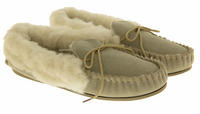 Ladies LODGEMOK SUEDE REAL WOOL Lined Slippers Thumbnail 10